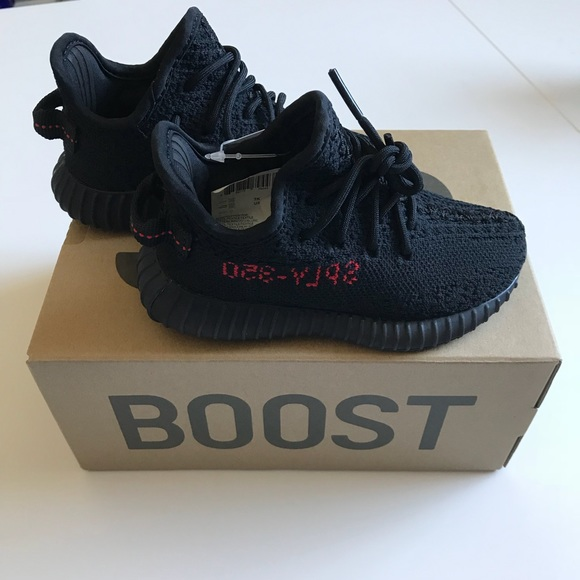 Adidas Yeezy Boost 350 V2 Infant Black And Red Size 5K 9k